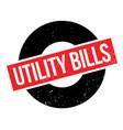 utility bills rubber stamp vector image