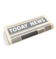 Folded newspaper icon presenting the news vector image