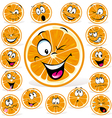orange cartoon with many expressions vector image