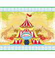 abstract circus on a grunge background vector image