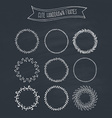 Romantic Wreaths on Chalkboard vector image