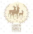 deer family card vector image vector image