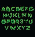 acid flame alphabet vector image vector image