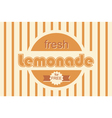 retro lemonade background design vector image