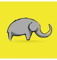 Abstract elephant logotype isolated on yellow vector image