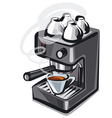 coffee machine2 vector image