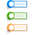 Collection Web Banner design vector image