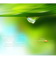 Drop of dew on a background vector image