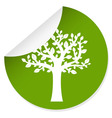 eco label with tree vector image