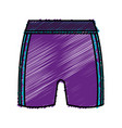 female sport shorts icon vector image