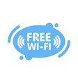 free wi-fi zone sign in abstract line blue vector image