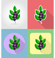 fruits flat icons 16 vector image