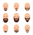 hipster mustache and beards icons set vector image