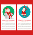 merry christmas poster text vector image