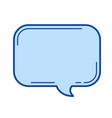 speach bubble line icon vector image