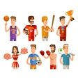 sport and athletes icons set vector image