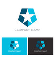 star shape shield logo vector image