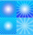 sunrays backgrounds set vector image