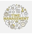 Time management round vector image