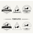 vintage insignias and logotypes set vector image
