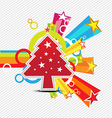 christmas with star celebration background design vector image