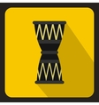 African drum icon flat style vector image