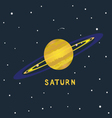 SATURN space view vector image