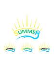 set summer logo vector image
