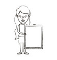 blurred silhouette caricature full body woman vector image
