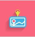 navigation icon modern flat design vector image