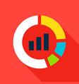 infographic pie flat icon vector image