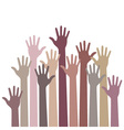 monochrome up hands vector image