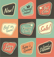 Retro labels and stickers collection vector image