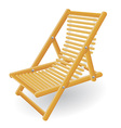 beach chair 02 vector image vector image