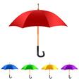 Color Set umbrella vector image vector image