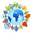 tree around the globe vector image