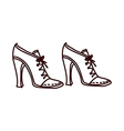 A pair of shoes vector image
