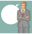 Business man on the background for your text vector image