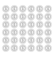 Coins money isolated vector image