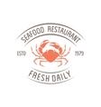 crab badge vector image