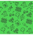 Garden set pattern vector image