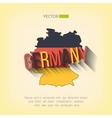 germany map in flat design German border vector image