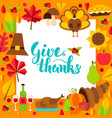 give thanks paper template vector image