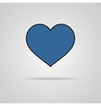 Heart Icon with shadow vector image