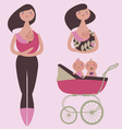 Maternity clipart vector image