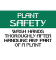 Plant safety sign vector image