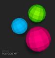 Polygon spheres vector image