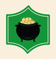 pot gold vector image