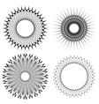Set of Circle Geometric Ornaments vector image