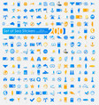 set of sea stickers vector image